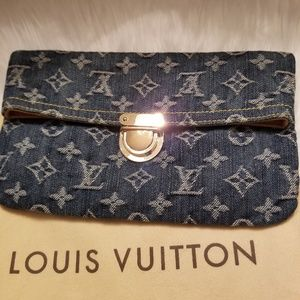 Louis Vuitton Denim Pochette Clutch